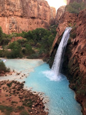 Havasu Falls is one of the most photographed spots on the trail to the Havasupai campground. Nov. 1, 2016