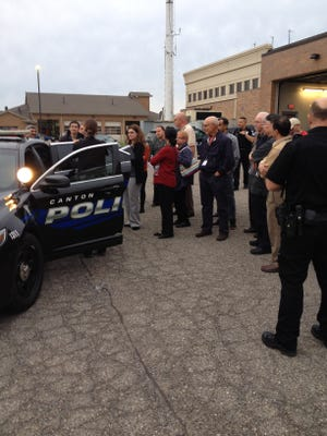 Citizens Police Academy participants learn the proper policies for traffic stops from Officer Jessica Nuottila during a previous academy.