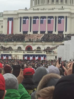 This was the vantage point for Paul and Mari-Kathryn Braswell on Friday during the inauguration ceremony of President Donald J. Trump at the U.S. Capitol. The Braswells are from Montague County and serve in the Republican Party at the local, state and national levels. It was their first presidential inauguration.