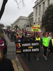 Marchers take to the streets of Washington, D.C. on