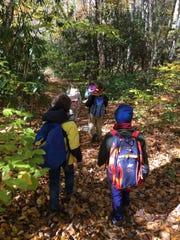 Children take a hike in the Shining Rock Wilderness last fall with the Carolina Mountain Club's new Youth Partner Challenge.