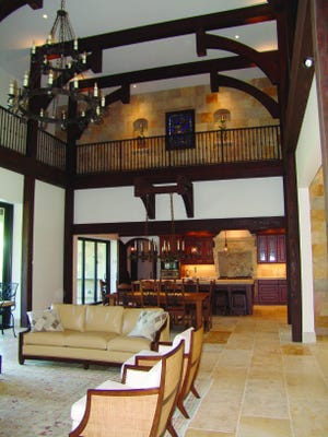 KenMark completed a custom home in Aqualane Shores that emulates a 17th century castle.