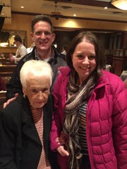 Dond memories Trudy Mitchell was dining at Biaggi's recently when a gentleman approached her and asked if she remembered him. In a brief moment, she recognized Brian Shinkle from her past hometown of Albion, Illinois, and the stories began to unfold. It was not that long ago that Brian, a new school graduate, moved back to Albion from law school and shared space in the late Bill Mitchell's office. The Mitchells were very supportive of his run for State's Attorney and Brian credits them for his win. Brian and his wife Sonja with Trudy.