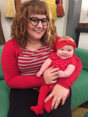 River City valentine We popped in to River City Mercantile for some shopping and coffee and found young Miss Maybelle Vaught and her mom Heather all decked out in their Valentine's Day finest. We noticed tons of new seating as their downtown coffee business has totally taken off!