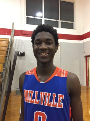Millville sophomore guard Rynell Lawrence.