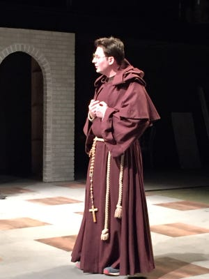 "Brennan Kane as Friar Lodowick in William Shakespeare's ""Measure for Measure"" at Ripon College. The play will be presented Wednesday through Saturday."