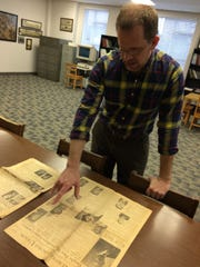 Rutherford County Archivist John Lodl looks in March