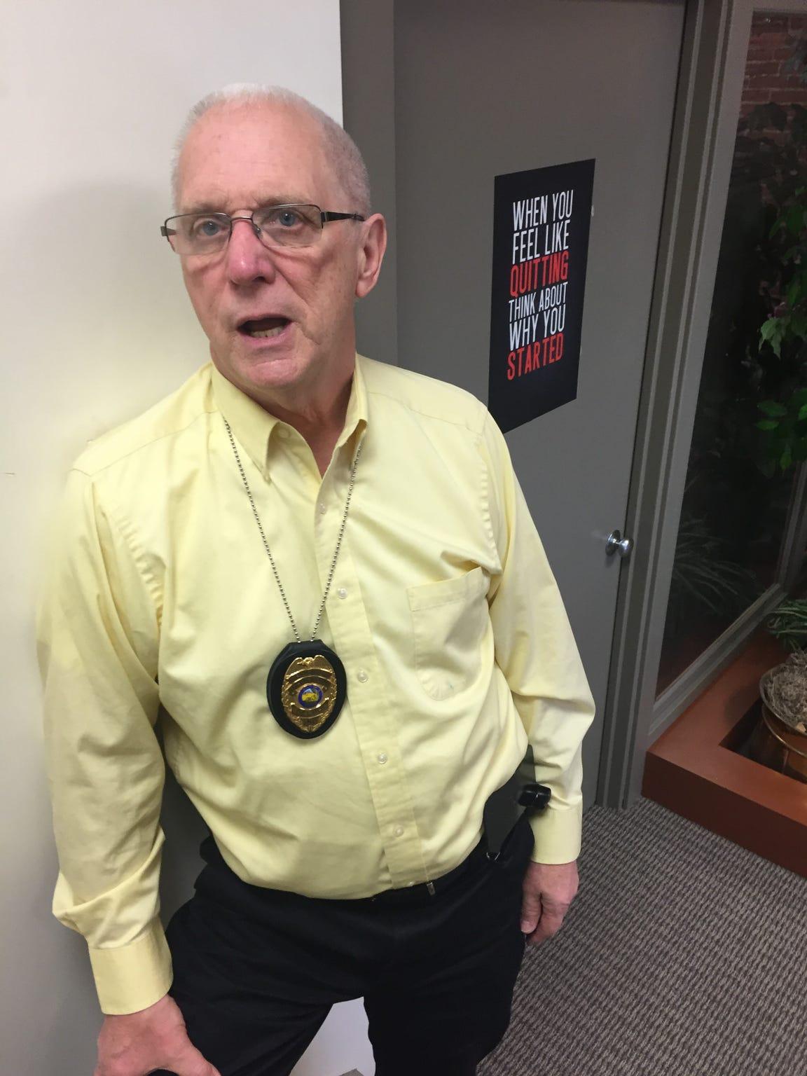 Pastor Ed Selvidge, chaplain for the Carroll County