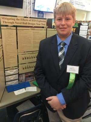 St. Andrew's Episcopal Academy eighth-grader Jack Krasulak has advanced to the State Science & Engineering Fair of Florida in Lakeland for the third time in a row.
