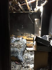 Six people were displaced after a fire tore through