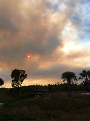 A brush fire broke out Sunday, March 5, 2017, in Lehigh Acres.