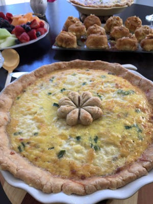 Felicie's Famous Quiche is well worth the effort, which can be spread over two days.