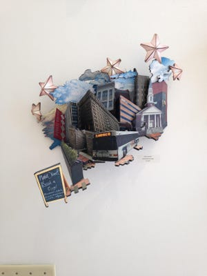 Sara Krebs' abstract look at Wilmington is in the DCAD student show, which ends Saturday.