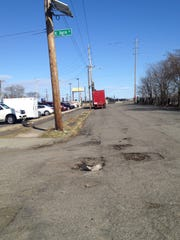 Potholes on 23rd Avenue at East 36th Street in Paterson.