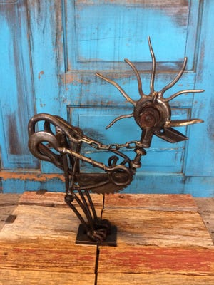 """Artist Greg Tune's """"Funky Chicken"""" welded sculpture is among the pieces at this year's 'Artitude.'"""