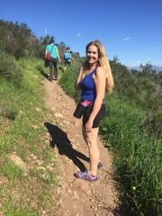 Katya Volpi heads out on a recent hike in Triunfo Canyon