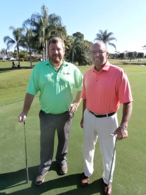 Brad Davis and Rod Kooker, head golf pro and director of golf, respectively, at Spanish Wells Golf & Country Club, have both been enjoying their first busy season at the Bonita Springs club.
