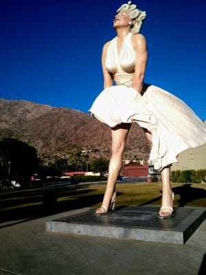 On a prime corner of downtown Palm Springs where a playful statue called Forever Marilyn resided a few years ago, a massive new hotel is being erected.