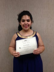 Natalie Barela won the piano solo division for grades 11 and 12 at the Texas Music Teachers Association's local Student Affiliate Performance Contest.