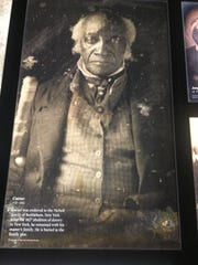Caesar was enslaved to the Nicholl family of Bethlehem, New York. After the 1827 abolition of slavery in that state, he remained with his master's family. Caesar is one of many photographs in the Museum of the American Revolution of people who were alive during the war.