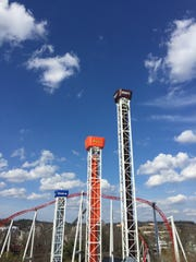 Hershey Triple Tower features three drop towers of different heights, the first of its kind in the U.S.