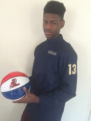 Our Lady of Lourdes boys basketball player Kevin Townes