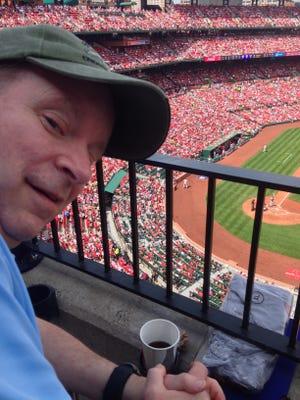 Terry Wilton at Busch Stadium, St. Louis Missouri, on April 9, 2017.