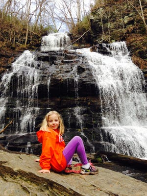 Photos of my daughters, then ages 2 and 6, in the Sumter National Forest.