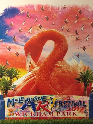 The poster for the 33rd annual Melbourne Art Festival at Wickham Park.