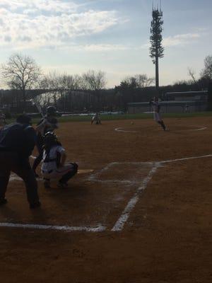 Verona's Christina Colon lets a pitch fly against Wayne Valley.
