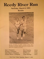 Reedy River Run results pamphlet from the 1991 race