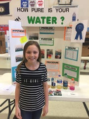 First place winner in the Sturgis Elementary science