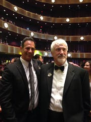 Dogfish Head founder Sam Calagione and the late Sussex County restaurateur Matt Haley in May 2014 at the James Beard Awards in New York's Lincoln Center.