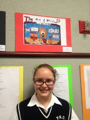 """Katarina Koziotova, a sixth-grade student at Perth Amboy Catholic School, won second place in the 6th Grade Category for her poster in the 2016-17 """"Be Smart About Medicine Contest."""