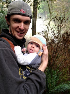 Statesman Journal writer Zach Urness on a hike at Golden and Silver Falls with his daughter Lucy.