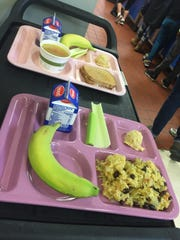 School lunch options in Winooski almost always include rice, as a high population of students are used to eating rice with meals. April 9, 2017.