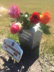 David Del Valle's gravesite in South Carolina.