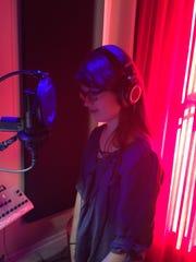 Grace Rembinski in the studio.