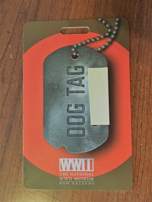 """""""Dog tag"""" I got at the National World War II Museum in New Orleans that led me to Joseph H. Diamond."""