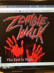 A Louisville Zombie Walk logo.