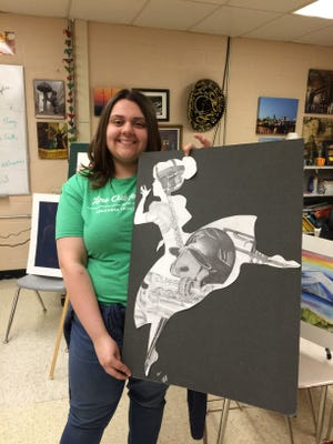 The Area Art Club recently announced the 2017 recipient of their $1,000 scholarship, Hailey Marie Perronne, a Flippin High School senior.  Perronne is a very creative artist and has received many awards for her art work. She is active both at school and in her community. She plans to study Art Education at Arkansas Tech University.