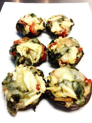 Crab-stuffed portobello mushrooms prepared by Ray Sheehan of Neptune.