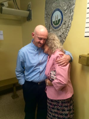 William Anderson and his mother, after his acquittal.