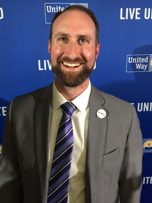 Jesse Bridges, incoming CEO of United Way of Northwest Vermont, at the 2017 Annual Celebration and Community Awards.