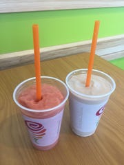 Jamba Juice's Caribbean Passion, left, and Peanut BUtter
