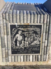 A square at the Granite Mountain Speculator Mine Memorial