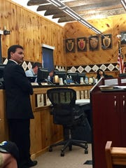 Eastern Band of the Cherokee Indians Principal Chief Patrick Lambert, 53, testifies during an impeachment hearing against him Tuesday May 23, 2017.