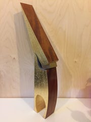 Artist Alice Porembski exhibits her wood pieces at the Siskiyou Arts Museum.