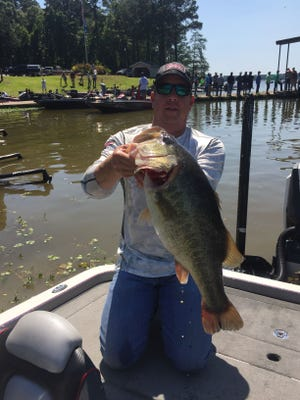 Brett Hortman had a good day on the water. And this one went back.
