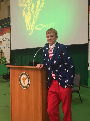 CMR graduate Trevor Funseth estimates he will be the 50th president of the United States.